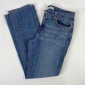 Levis 505 straight leg zip fly jeans